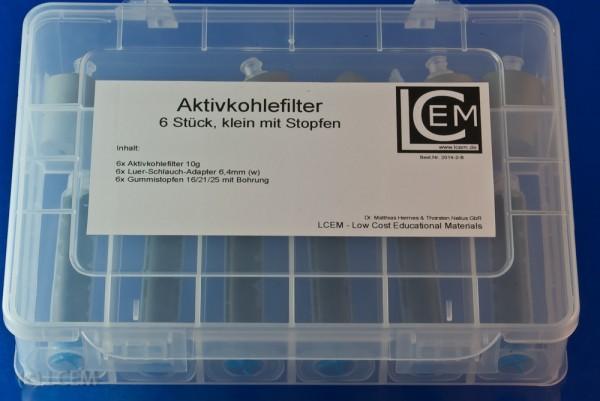 BOX - 6x Aktivkohlefilter klein für RG inkl. Stopfen