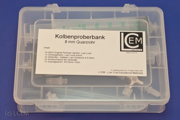 "BOX - ""Kolbenproberbank"" - 8mm Rohr"
