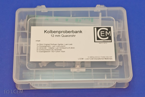 "BOX - ""Kolbenproberbank"" - 12mm Rohr"